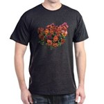 Red Pansies Dark T-Shirt
