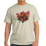 Red Pansies Light T-Shirt