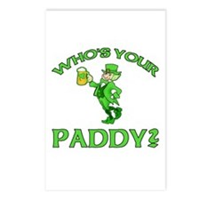 Leprechaun Who's Your Paddy Postcards (Package of