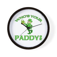 Leprechaun Who's Your Paddy Wall Clock