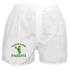 Leprechaun Who's Your Paddy Boxer Shorts