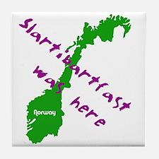 Slartibartfast was here - Tile Coaster