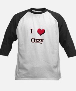 I Love (Heart) Ozzy Kids Baseball Jersey