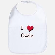 I Love (Heart) Ozzie Bib