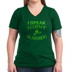 I Speak Fluent Blarney Women's V-Neck Dark T-Shirt