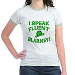 I Speak Fluent Blarney Jr. Ringer T-Shirt