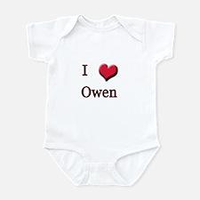 I Love (Heart) Owen Infant Bodysuit