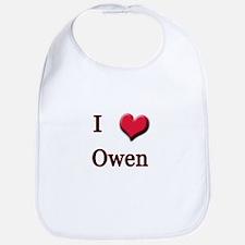 I Love (Heart) Owen Bib
