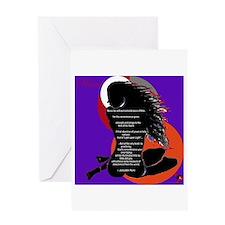 Rumi poem Greeting Card