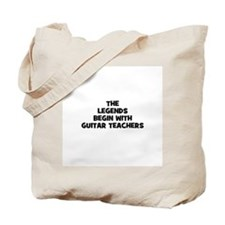 the legends begin with guitar Tote Bag