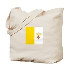 Vatican City Flag Tote Bag