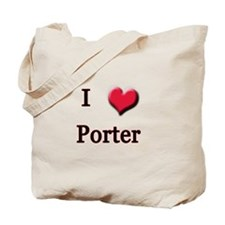 I Love (Heart) Porter Tote Bag