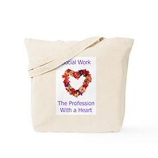 Social Work Heart Tote Bag