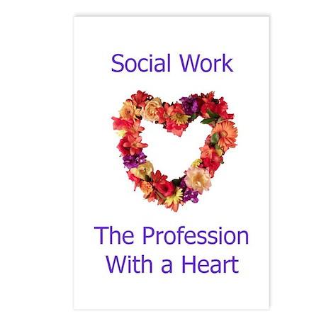 Social Work Heart Postcards (Package of 8)