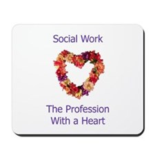 Social Work Heart Mousepad