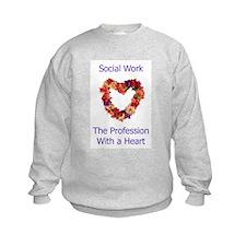 Social Work Heart Sweatshirt