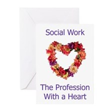 Social Work Heart Greeting Cards (Pk of 10)