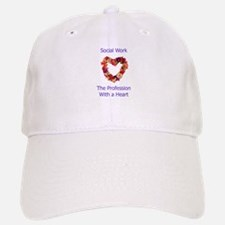 Social Work Heart Baseball Baseball Cap