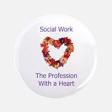 """Social Work Heart 3.5"""" Button (100 pack)"""