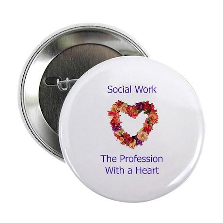 """Social Work Heart 2.25"""" Button (100 pack)"""