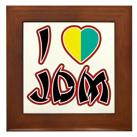 I Heart JDM (Wakaba) Framed Tile