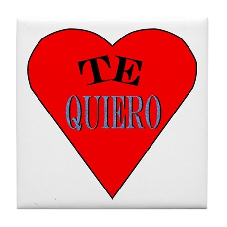 Te Quiero Tile Coaster