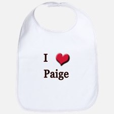 I Love (Heart) Paige Bib