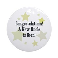 Congratulations! A New Uncle  Ornament (Round)