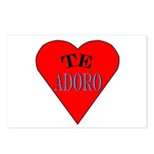 Te Adoro Postcards (Package of 8)