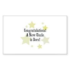 Congratulations! A New Uncle Sticker (Rectangular