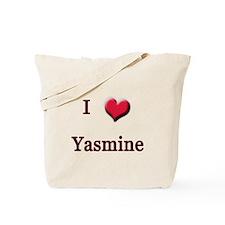 I Love (Heart) Yasmine Tote Bag