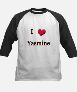 I Love (Heart) Yasmine Kids Baseball Jersey