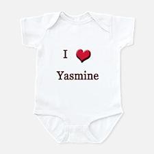 I Love (Heart) Yasmine Infant Bodysuit
