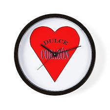 Dulce Corazón Wall Clock