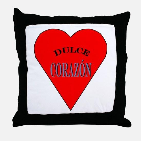 Dulce Corazón Throw Pillow
