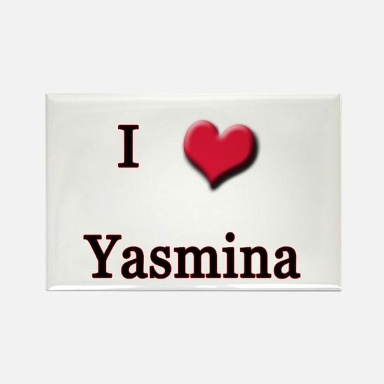 I Love (Heart) Yasmina Rectangle Magnet