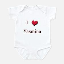 I Love (Heart) Yasmina Infant Bodysuit