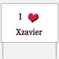 I Love (Heart) Xzavier Yard Sign