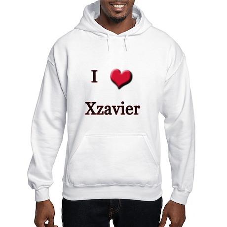 I Love (Heart) Xzavier Hooded Sweatshirt