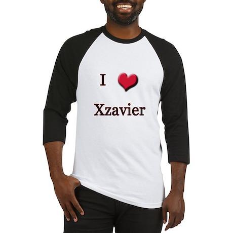 I Love (Heart) Xzavier Baseball Jersey