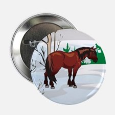 """Clydesdale Christmas 2.25"""" Button"""
