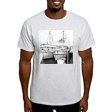 "Fishing Boat ""In Their Shadows"" Ash Grey T-Shirt"
