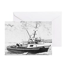 """Fishing Boat """"Chovie Clipper"""" Greeting Cards 6ea."""