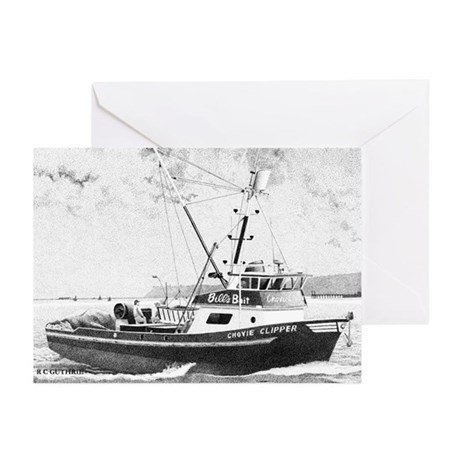 "Fishing Boat ""Chovie Clipper"" Greeting Cards 6ea."
