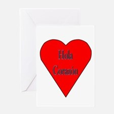 Hola Corazón Greeting Card