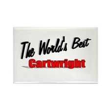 """""""The World's Best Cartwright"""" Rectangle Magnet"""