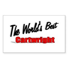 """The World's Best Cartwright"" Sticker (Rectangular"