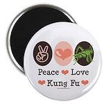 Peace Love Grasshopper Kung Fu Magnet