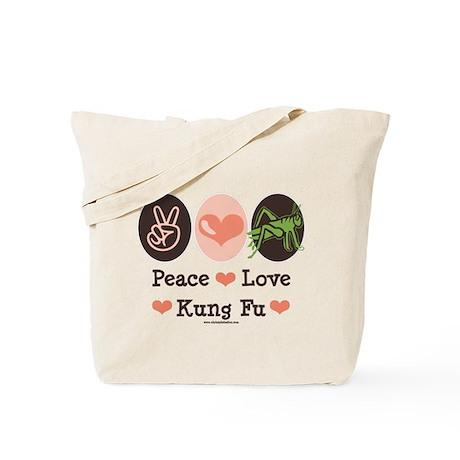 Peace Love Grasshopper Kung Fu Tote Bag