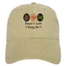 Peace Love Grasshopper Kung Fu Baseball Cap